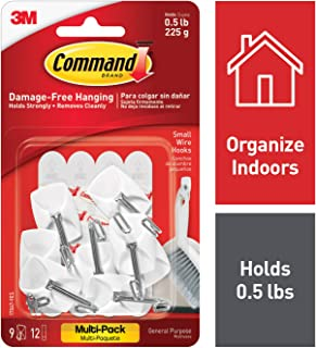 Command 3M Multi-Function Hooks, White, Decorate Damage Free, Easy On,