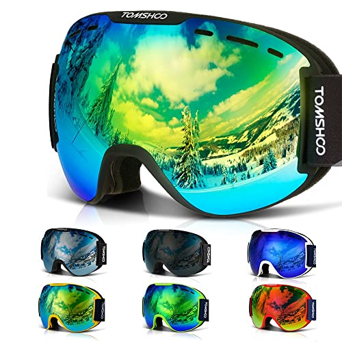 c788feec5657 TOMSHOO OTG Ski Goggles Windproof Dustproof Anti-Fog UV Protection Spherical  Wide Vision Double Lens