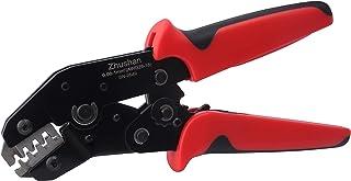 Dupont Crimper,Zhushan Crimping Tool for AWG28-18 (0.08-1.0 mm2) XH2.54/Dupont 2.54/2.8/3.0/3.96/4.8/KF2510/JST Terminal Crimper Plier Ratcheting Wire Connector Crimping Tool