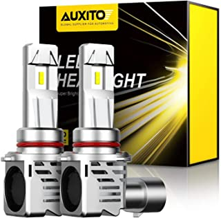 AUXITO 9005 LED Headlight Bulbs 12000LM Per Set 6500K Xenon White Mini Size HB3 Wireless Headlights Conversion Kit, Pack of 2