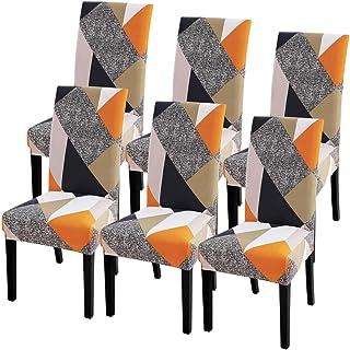 IVYSHION Housse de Chaise Extensible Imprimé Couverture de Chaise pour Salle à Manger Amovible Lavable Revêtement de Chais...