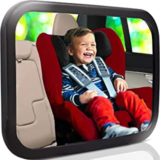 Baby Mirror for Car - Largest and Most Stable Backseat Mirror with Premium Matte Finish - Crystal Clear View of Infant in ...