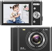 $66 » toberto HD Digital Camera, 2.7K Vlogging LCD Mini Camera with 16X Zoom 44MP 2.88 inches Digital Point and Shoot Camera Vid...