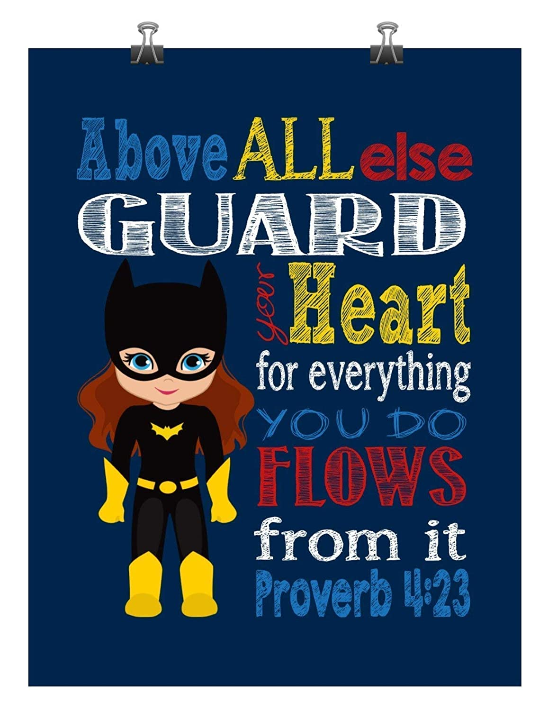 Batgirl Superhero Max 61% OFF Christian Nursery Decor shop else Above - all Print