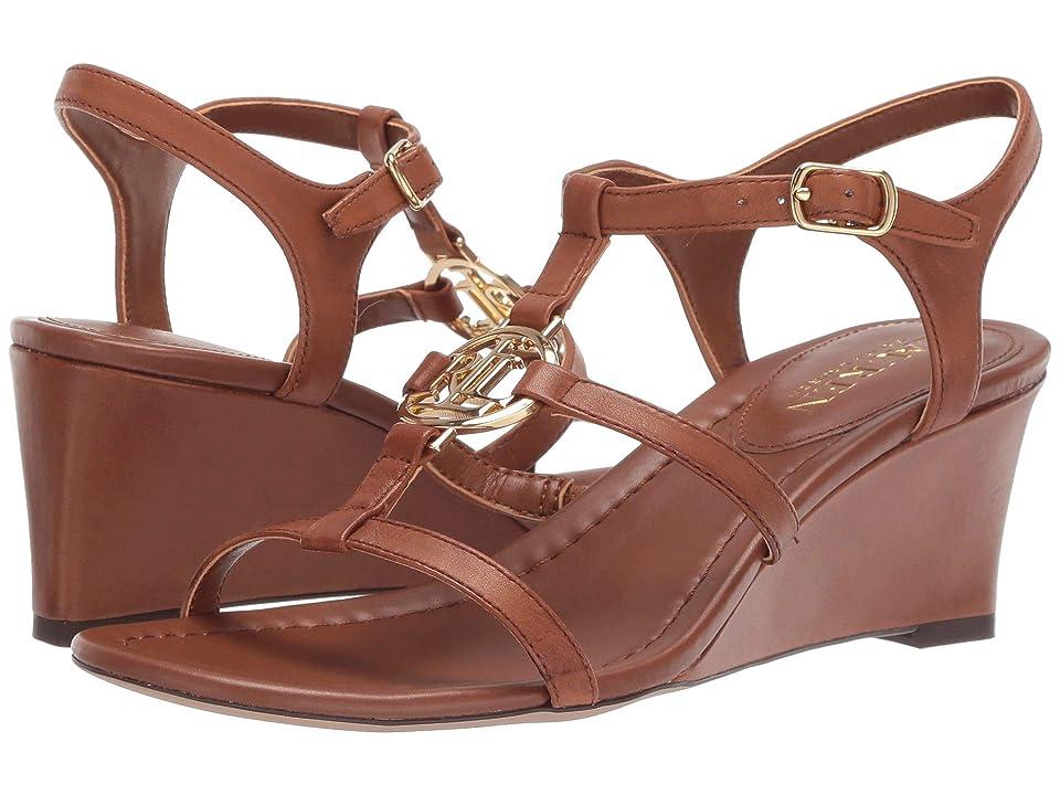 LAUREN Ralph Lauren Elina (Deep Saddle Tan Super Soft Leather) Women