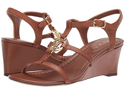 LAUREN Ralph Lauren Elina (Deep Saddle Tan Super Soft Leather) Women