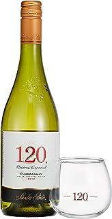 【香りの変化を楽しめる特製スワリンググラス付】サンタ・リタ 120(シェント・ベインテ) シャルドネ スワリンググラス1脚付 [ NV 白ワイン 辛口 チリ 750ml ]