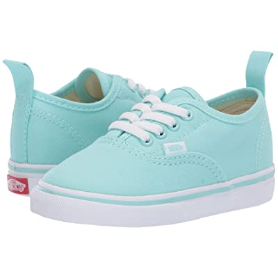 Vans Kids Authentic Elastic Lace (Toddler) (Blue Tint/True White) Girls Shoes
