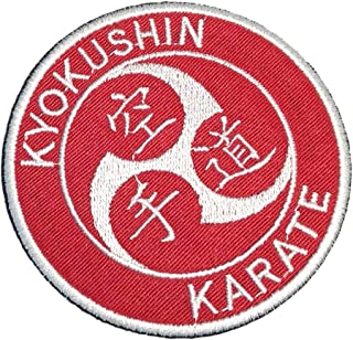 ATM134T Karate Martial Arts Embroidered Patch Iron or Sew Kimono Size 3.74 in.
