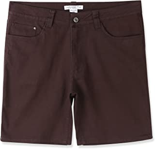 Men's Casual Classic Fit Flat-Front Stretch Solid Chino Walk Short