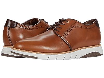 J&M Collection Vaughn Plain Toe (Cognac) Men