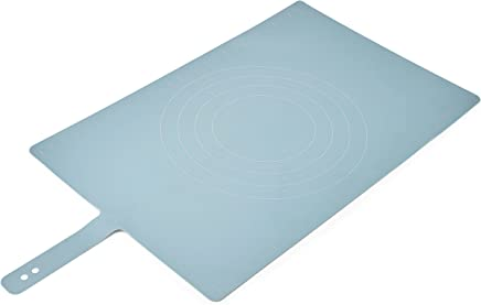Joseph Joseph 20097 Roll-Up Non-Slip Silicone Pastry Mat with Measurements Lockable Strap 23-inch x 15-inch, Blue