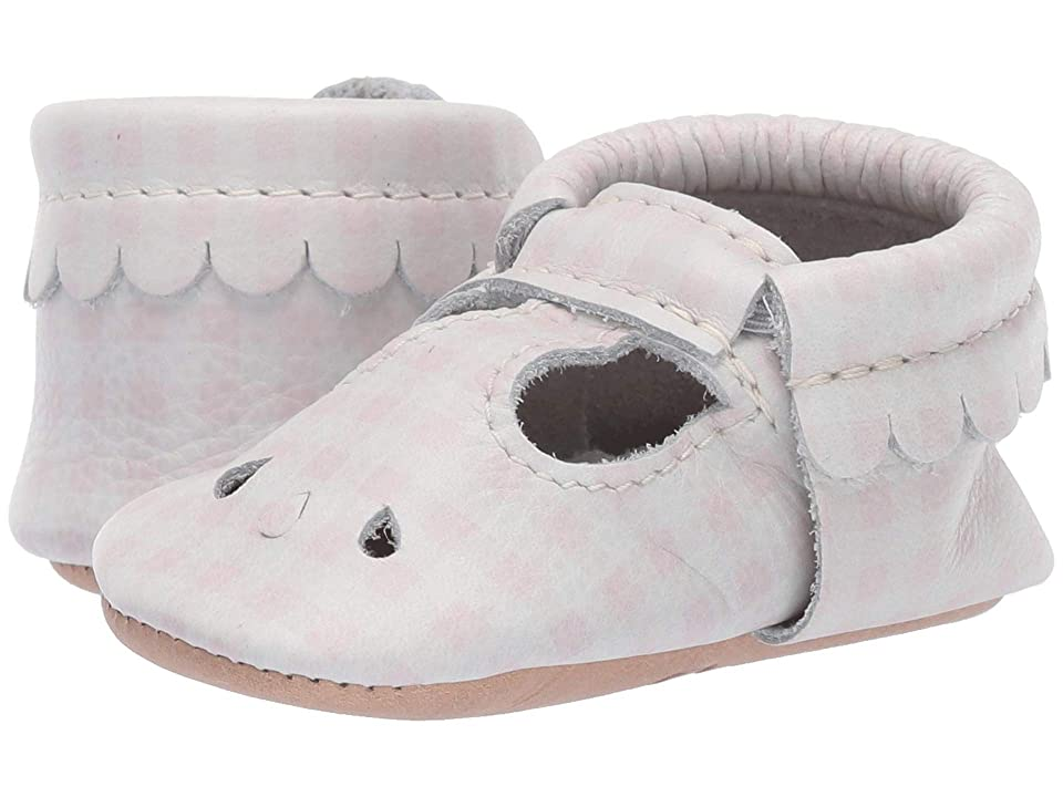 Freshly Picked Soft Sole Mary Jane High Tea (Infant/Toddler) (Almond Gingham) Girls Shoes