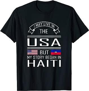 Haitian Roots Shirt Half American Haiti Flag Tshirt