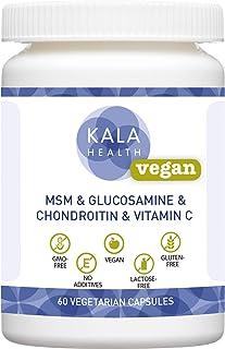 Kala Health - Cápsulas 100% veganas OptiMSM®. MythoCondro®. Glucosagreen® Ester-C®. Aquamin® (Minerales y oligoelementos) Altamente dosificado. libre