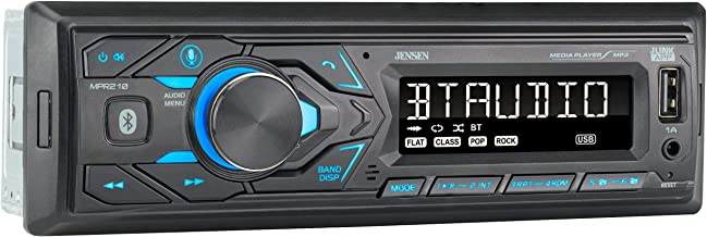 JENSEN MPR210 7 Character LCD Single DIN Car Stereo...