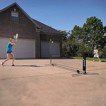 Aoneky Mini Portable Tennis Net for Driveway - Kids Soccer Tennis Net