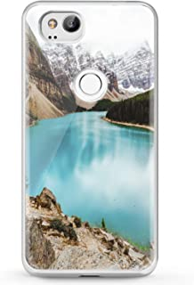 Cavka TPU Phone Case for Google Pixel 2 XL 3 XL 3a XL 4 XL New Cover 2019 Slim fit Clear Mountains Design Watercolor Smooth Print Gift Nature Flexible Phone Blue Soft Lightweight Beautiful Lady Lake