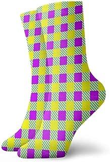 Calcetines para hombre y mujer Calcetines con estilo Mardi Gras Moda Novedad Calcetines deportivos secos Calcetines 30cm