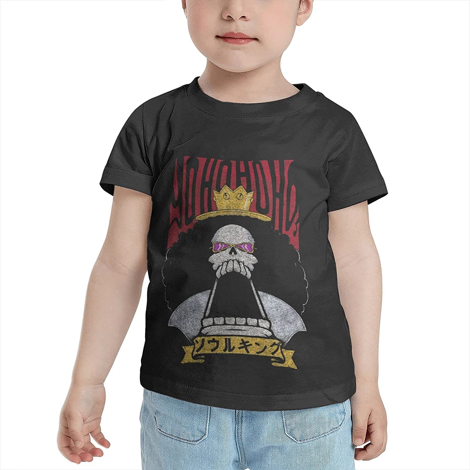 One Piece Brook Little Kid T-Shirt 2-6 Years Old Graphic Anime Tshirts Tops