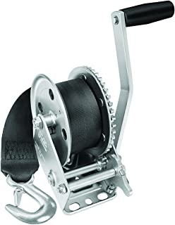 Fulton 142203 Single Speed Winch with 20' Strap-1500 lbs. Capacity