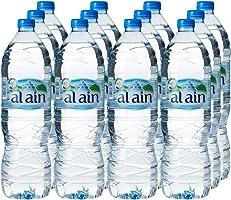 مجموعة العرض الكبير من زجاجات مياه العين للشرب - 1.5 لتر (مجموعة من 12 زجاجة)