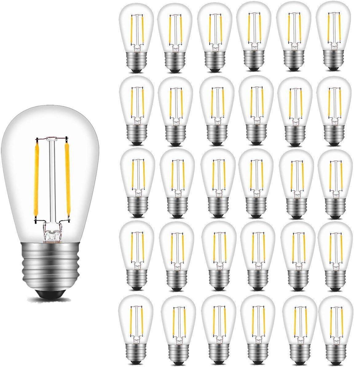 INNOCCY Nashville-Davidson Mall Vintage S14 LED Light Bulbs Sale Special Price 200 2700K Lumens Warm Wh 2W