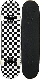 لوح تزلج للمبتدئين، لوح تزلج كامل 31 × 7.88، 7 طبقات من خشب القيقب الكندي، ذو ركلات مزدوجة مقعرة ستاندرد و لفعل الحركات، ا...