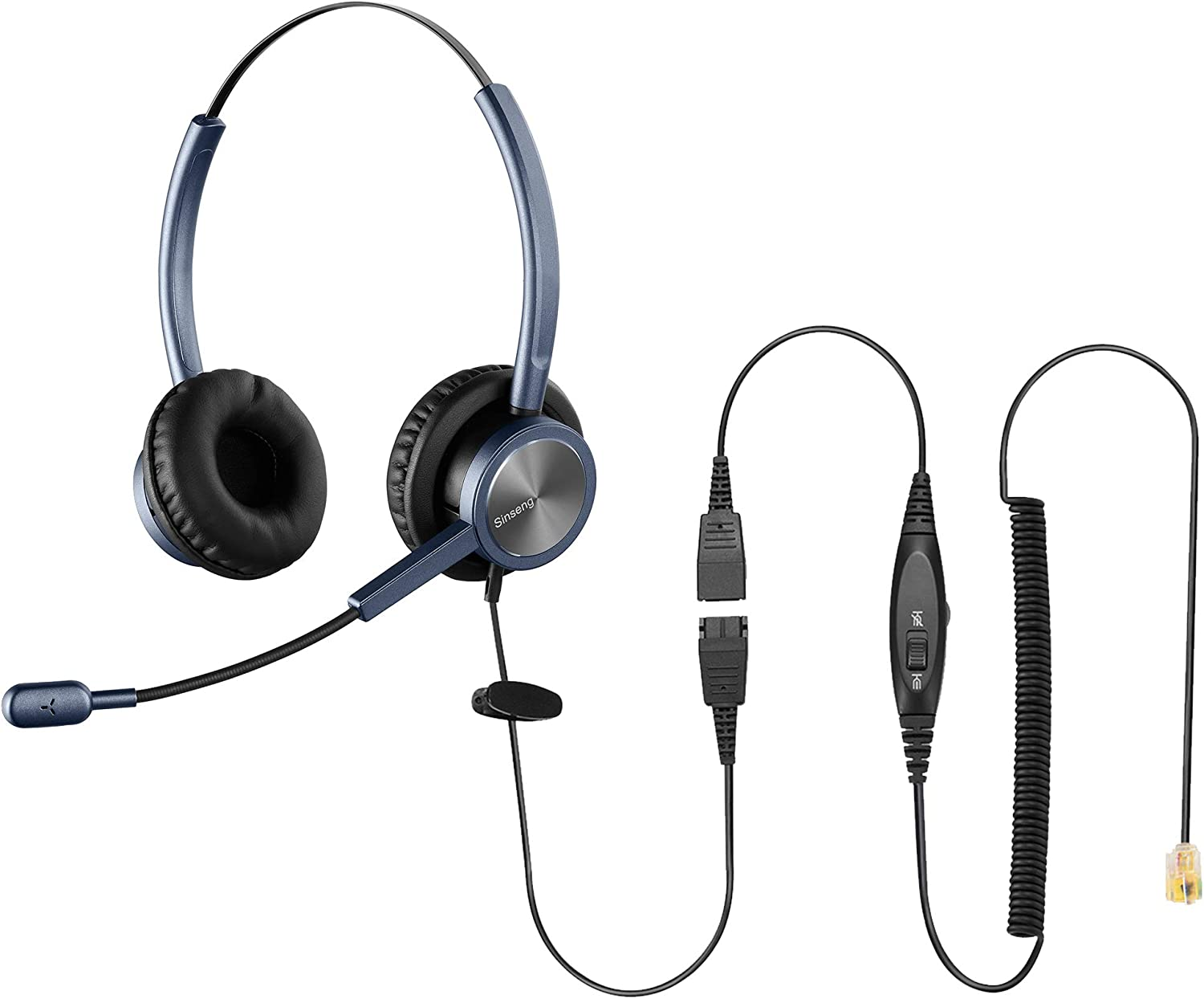 Sinseng Headset with Microphone Compatible with Cisco Phone for Call Center Office, Telephone Headphones Compatible with Cisco CP-7841 7931G 7940 7941G 7942G 7945G 7960 7961G 7962G 7965G 7970 8841