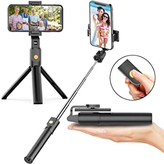 Selfie Stick Tripod with Bluetooth Wireless Remote, 3 in 1 Extendable Selfie Stick with Tripod Stand for iPhone 11/11 Pro/...