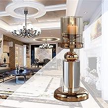 Crystal Candle Holder-Glass Candle Holder Hotel Model Room Soft Decoration, Home Living Room Decoration, Classic Design Tr...