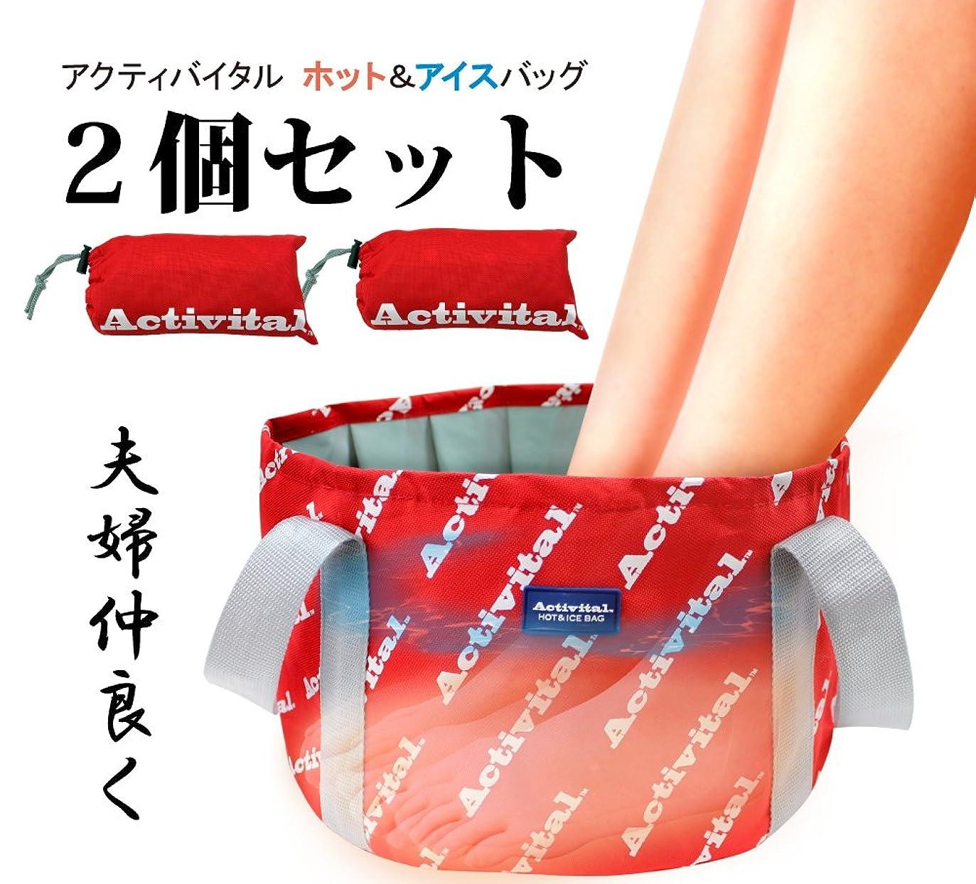 トマト調停者燃やすActivital HOT&ICE BAG アクティバイタル 温冷対応 ホット&アイス バック2個セット折り畳み式