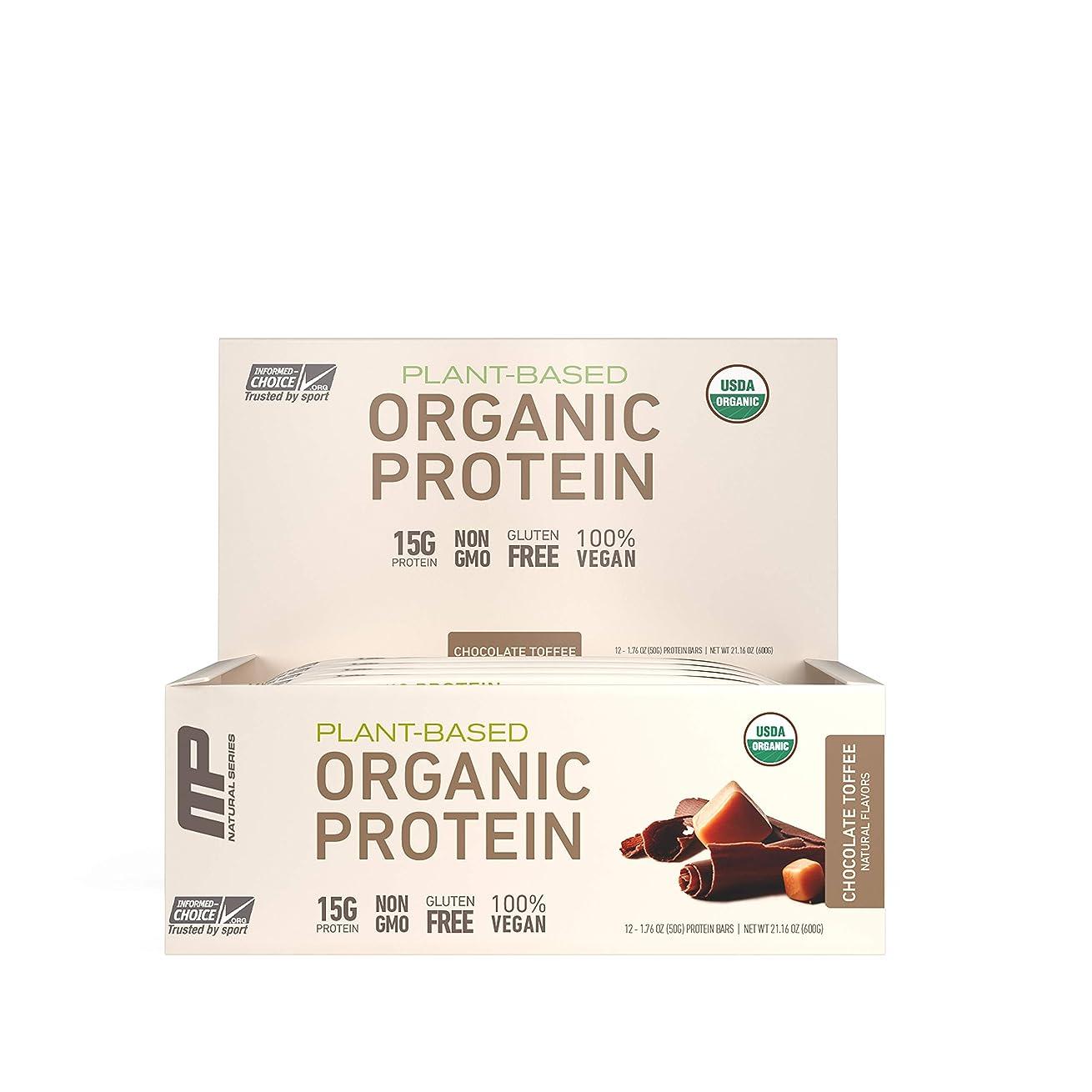 突き刺す容器ベッツィトロットウッドMusclePharm Natural オーガニック?プロテインバー(チョコレート?トフィー12本) (600 g) 海外直送品
