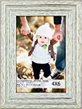 Juwide 4×6 Picture Frames,Photo Frame Made of Solid Wood High Definition Glass for Table Top and Wall mounting