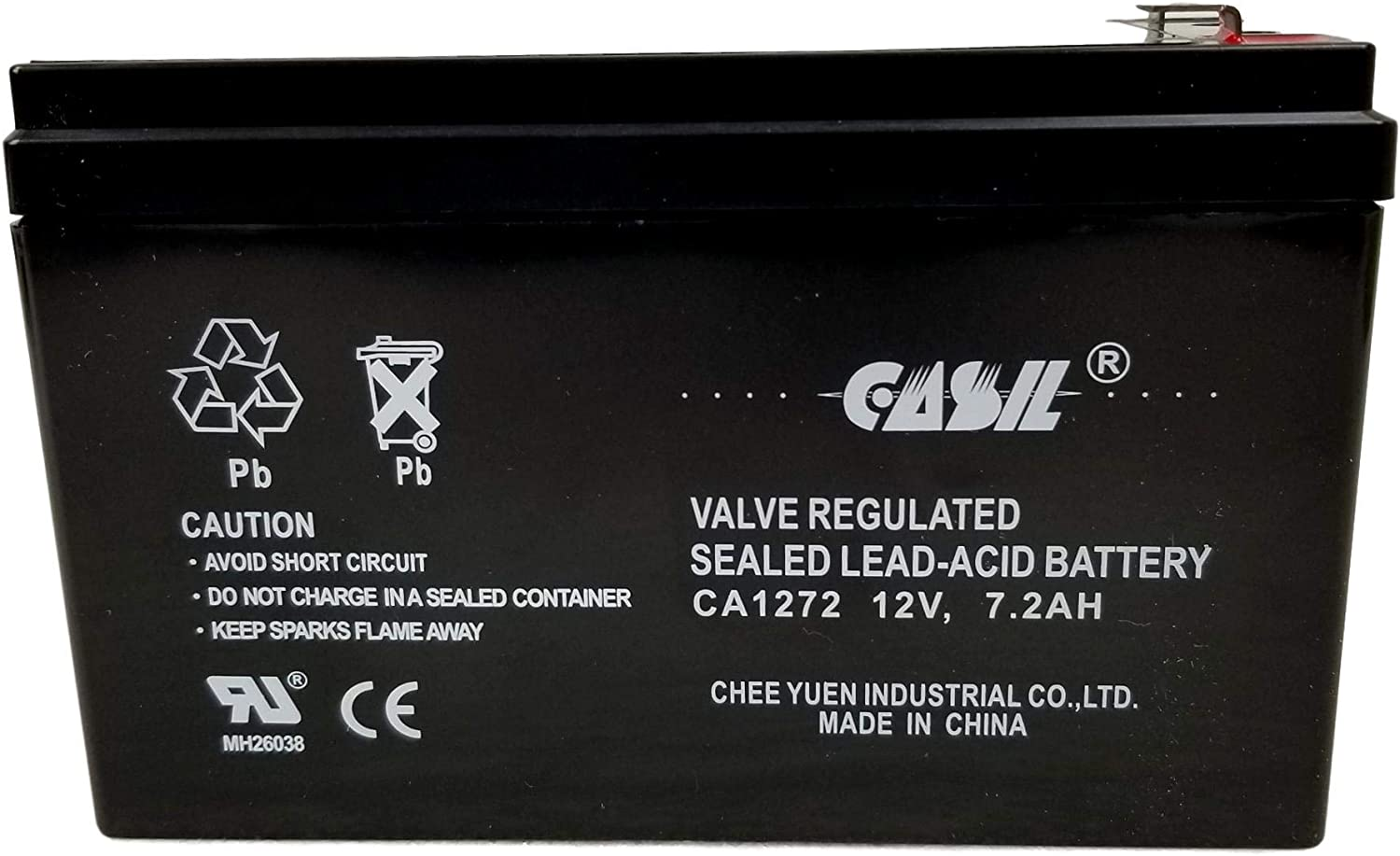 UPSonic Station 2021 model 2812V7.2AhReplacement Louisville-Jefferson County Mall Battery Casil by CA1272