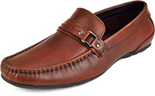 CHAMOIS Men's Handmade Genuine Leather Moccasins Loafers