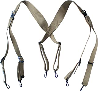 ANQIAO WW2 Repro Us Army M36 Suspenders Combat X Strap Webbing Canvas