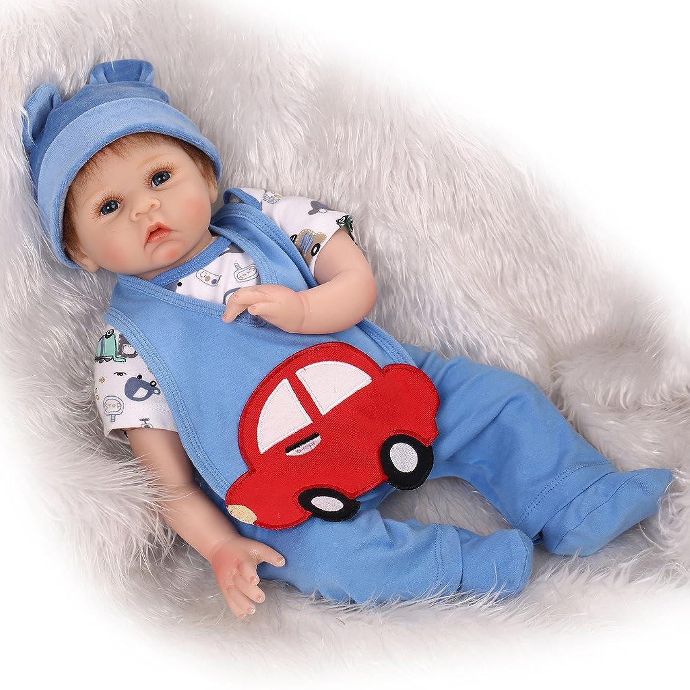 持ってる運営粘り強いNicery 生まれ変わった赤ちゃん人形ソフトシミュレーションシリコンビニール22インチ55cm磁気口生きているような少年少女おもちゃギフト Reborn Baby Doll RD55C137