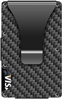 Carbon Fiber Wallets for Men, Slim Minimalist Metal Wallet
