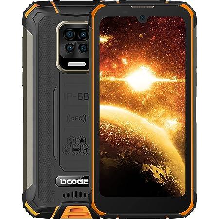 "DOOGEE S59 Movil Resistente, 10050mAh Batería 4GB RAM+64GB ROM Smartphone, IP68 IP69K, Cámara Quad AI 16MP Telefono Antigolpes, Carga Rápida de 24W, Potente Altavoz 2W, Android 10, 4G, 5.71"", NFC/GPS"