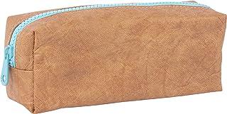 APLI 18954 - Estuche multiusos textura Kraft - AZUL - Portatodo - Estuche escolar