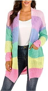 Howely Womens Kimono Knit Open Front Stripe Winter Fall Long Cardigan Coat