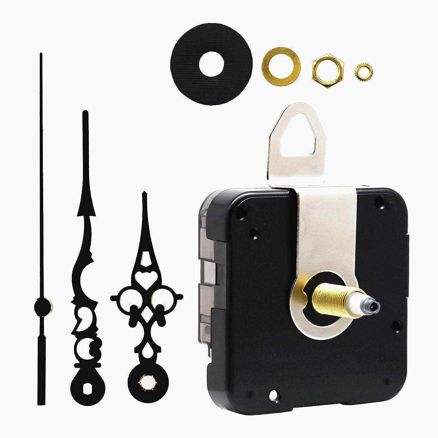 Quartz DIY Wall Clock Movement Mechanism Battery Operated DIY Repair Parts Replacement,1/2 Inch Maximum Dial Thickness, 59/64 Inch Total Shaft Length.