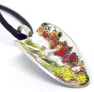 """Ciondolo esclusivo della collezione""""Barcelona"""" realizzato in argento sterling e smalto a fuoco. Pezzo unico di design idea..."""