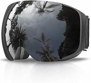 Gafas de Esquí, eDriveTech Máscara Gafas Esqui Snowboard Nieve Espejo para Hombre Mujer Adultos Juventud Jóvenes Chicos Chicas Anti Niebla Gafas de Esquiar OTG Protección UV Magnéticos Esférica Lentes