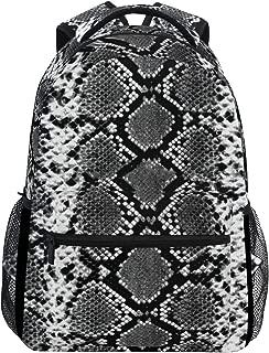Backpack Snakeskin Bookbags Daypack College Bag for Womens Mens Boys Girls