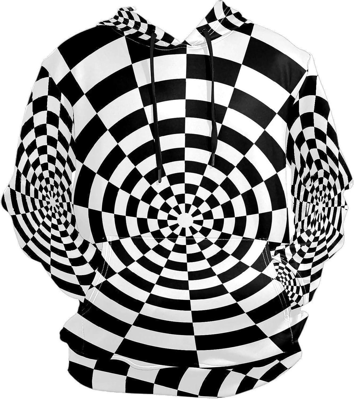 Black White Hole Whirlpool Mens Sport Hoodie Big and Tall Hoodies for Men Women Oversized Hooded Sweatshirt Hip Hop Pullover Hoodie Midweight Hood for Boys Girls