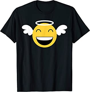Laughing Angle Emojis with Wings and Halo T-Shirt