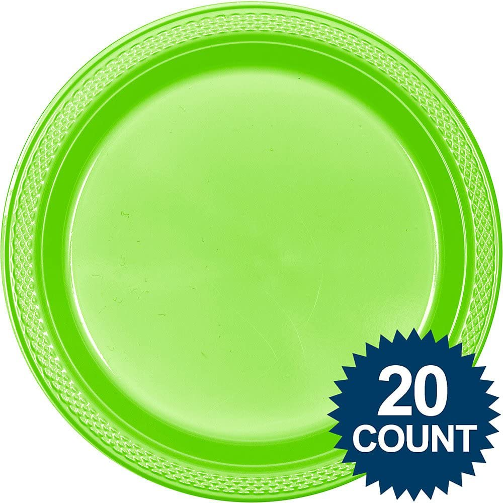 Party Tableware Apple Red Round Plastic Plates 20 Ct