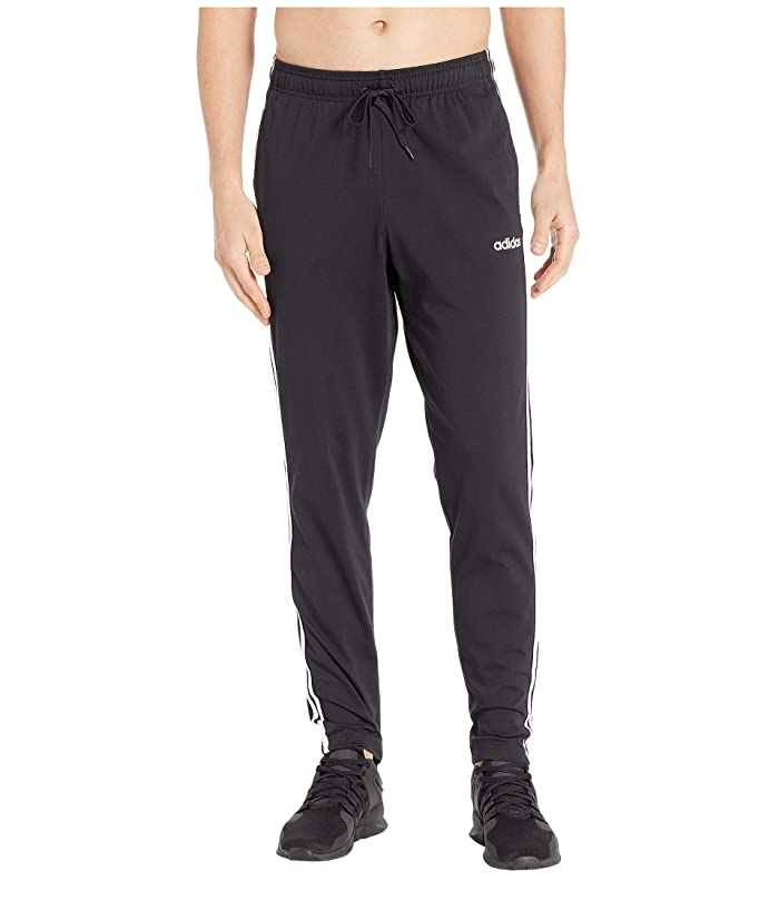 adidas 3-Stripe Jersey Pants (Black/White) Men